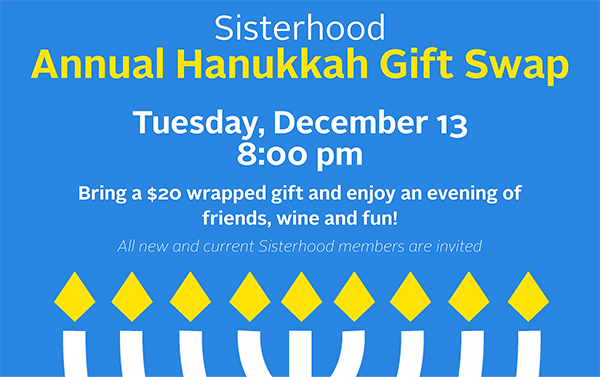 Join us for this fun-filled annual Sisterhood event