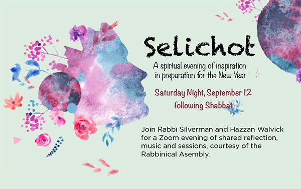 A Virtual Selichot Program